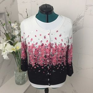 NWOT Charter Club sequined cardi XL
